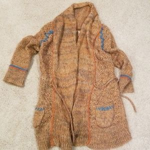 BKE Soft Brown Airy Cardigan Sweater